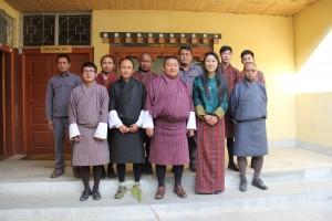 NPPC staff with Hon'ble Lyonpo